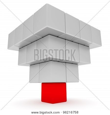 Leadership Concept. Pyramid