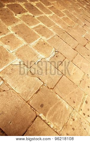 Ancient Cobblestone Pavement.
