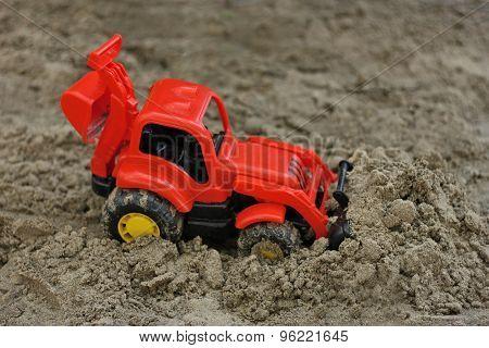 Red Excavator