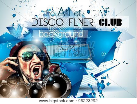 Club Disco Flyer Set with DJs and Colorful Scalable backgrounds. A lot of diffente style flyer for your techno, hip hop, electro or metal  music event Posters and advertising