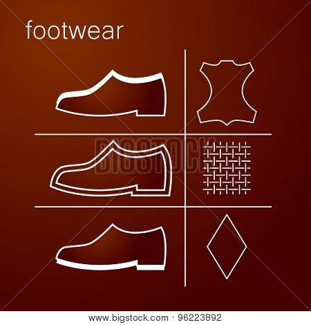 footwear label - shoes properties symbols