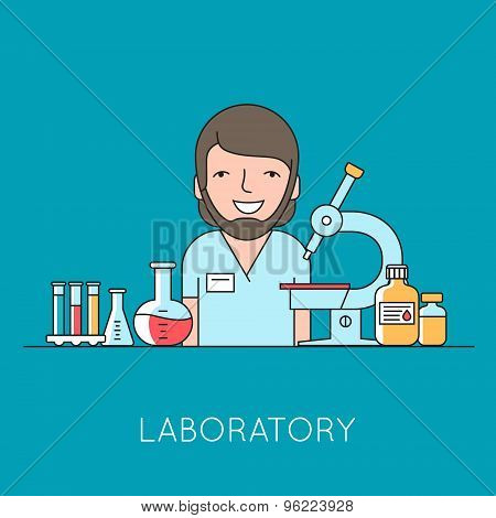 Medicine background with  nurse, medical and lab equipments