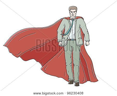 Confident Businessman Superhero