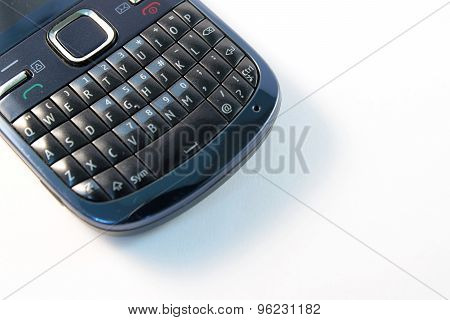 closeup Telephone number pad in white background