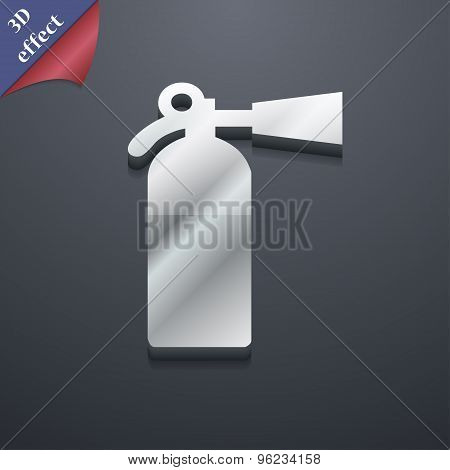 Extinguisher Icon Symbol. 3D Style. Trendy, Modern Design With Space For Your Text Vector