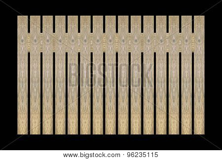 Background wooden fence The close proximity of green wood fence panels. Vintage wooden background Bl