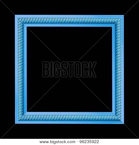 Frame engraved isolated on a black background.