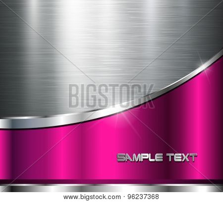 Metallic background polished steel texture, vector design.