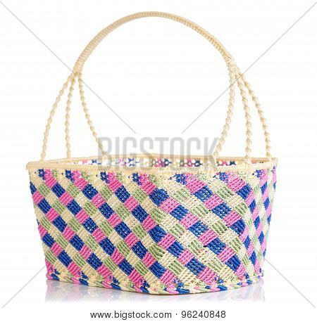 Hand Craft Plastic Basket With Shadow