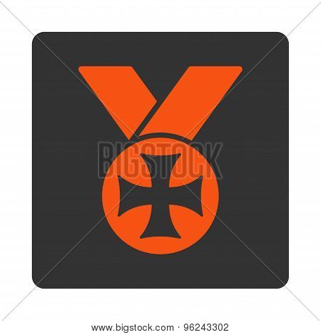 Maltese medal icon from Award Buttons OverColor Set