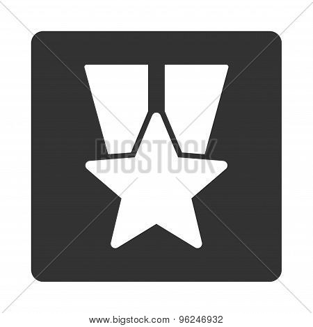 Star medal icon from Award Buttons OverColor Set