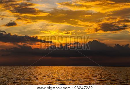 Seascape of Similand during sunset lowkey background