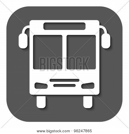 The bus icon. Public transport stop symbol. Flat