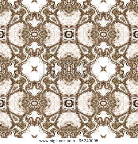 Seamless Kaleidoscope Texture Or Pattern On White 2