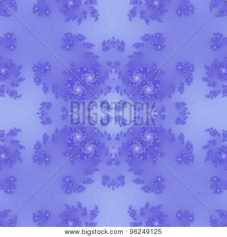 Seamless Ornate Pattern In Blue
