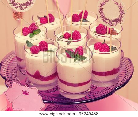 holiday buffet souffle in glasses