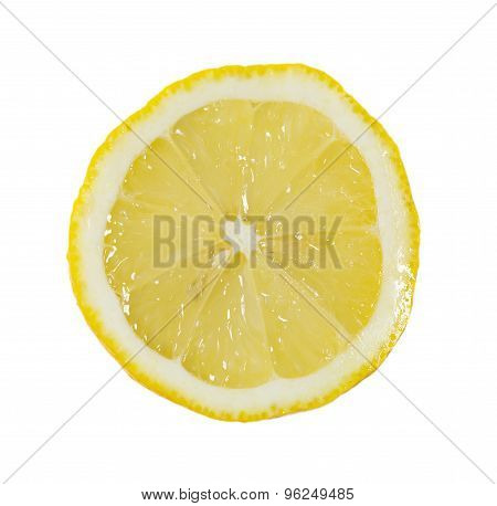 Slice Of Lemon In Macro Scale