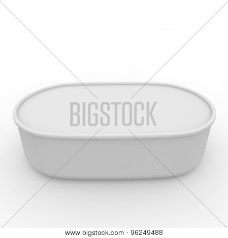 White Empty Jar With A Lid
