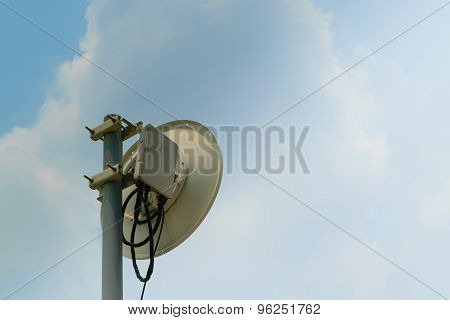 Satellite Dish And Blue Sky