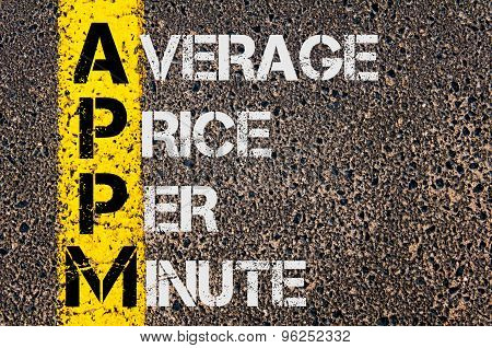 Business Acronym  Appm As Average Price Per Minute
