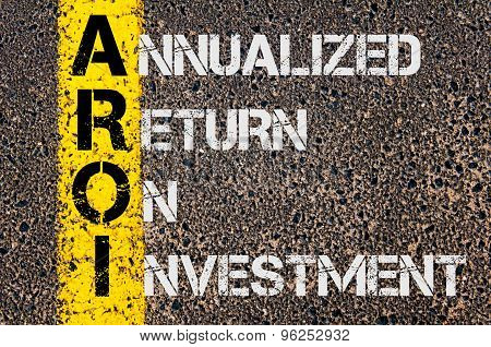 Business Acronym Aroi As Annualized Return On Investment