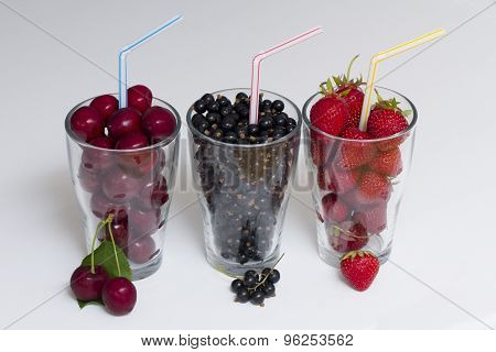 Three Glasses Of Fruit
