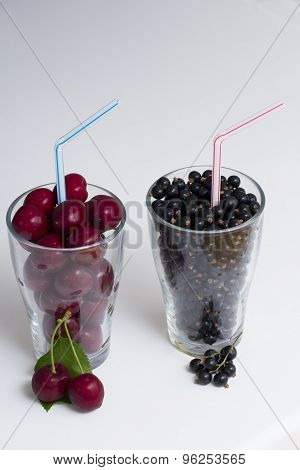 Two Glasses Of Fruit