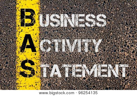 Business Acronym Bas As Business Activity Statement