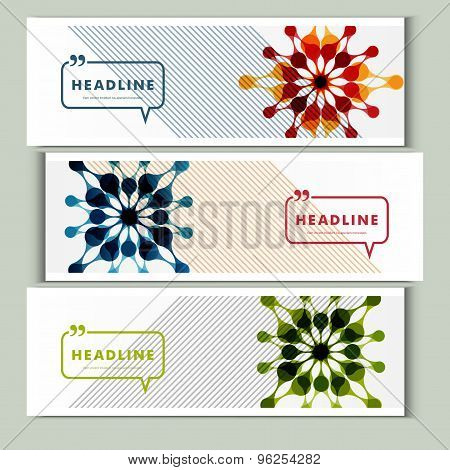 Set of 3 covers with abstract patterns