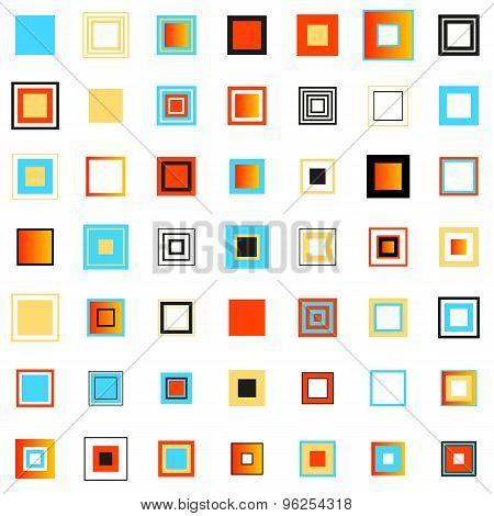 Colored Squares. Set Of Design Elements