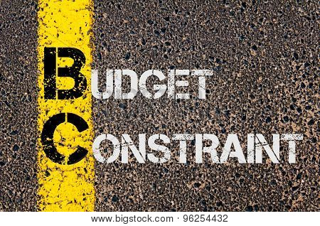 Business Acronym Bc As Budget Constraint