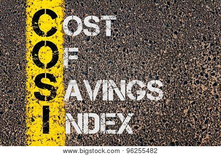 Business Acronym Cosi As Cost Of Savings Index