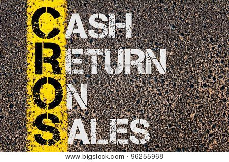 Business Acronym Cros As Cash Return On Sales