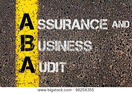 Business Acronym Aba As Assurance And Business Audit
