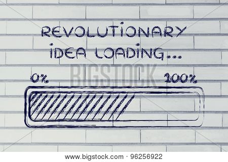 Revolutionary Idea Loading, Progress Bar Illustration