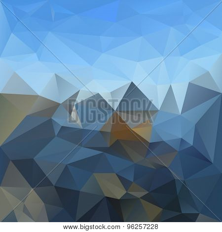 Vector Polygonal Background Triangular Design In Blue Colors
