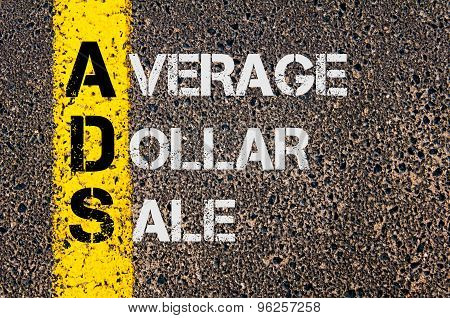 Business Acronym Ads As Average Dollar Sale