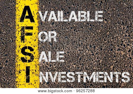 Business Acronym Afsi  As Available For Sale Investments