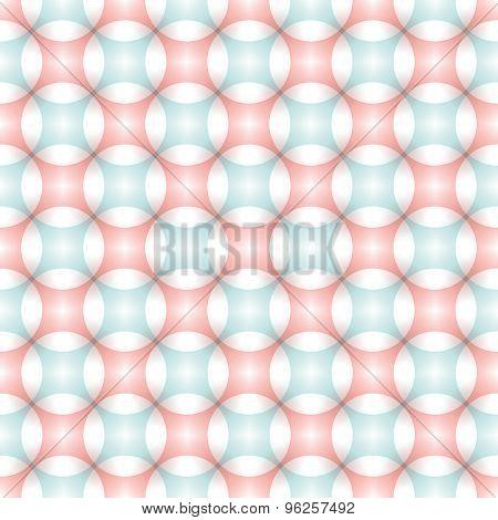 Seamless Gentle Pattern Drawing Circles