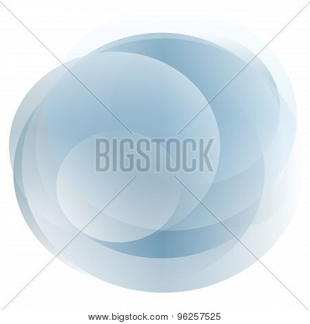 Transparent Blue Gray Circles Aliasing Light