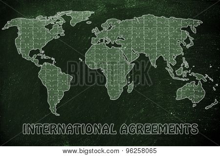 International Agreements, Jigsaw Puzzle World Map