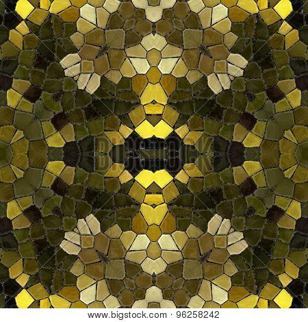 Mosaic texture-gold