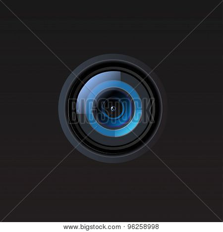 Vector camera lens illustration