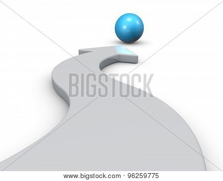 Mission 3D Abstract Concept. Three-dimensional Illustration Isolated.