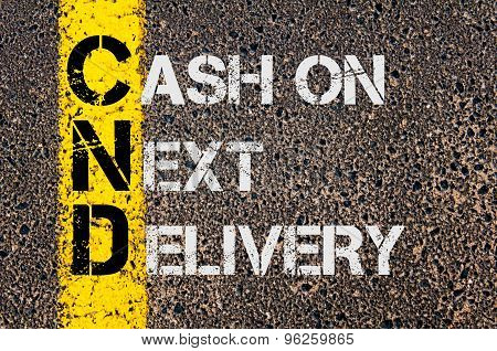 Business Acronym Cnd As Cash On Next Delivery