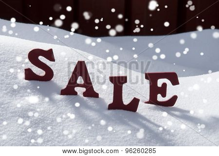 Christmas Sale On Snow And Snowflakes