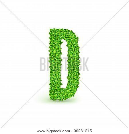 Green Leaves font D.