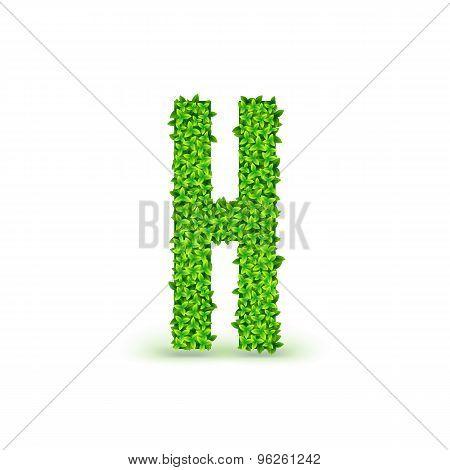 Green Leaves font H.