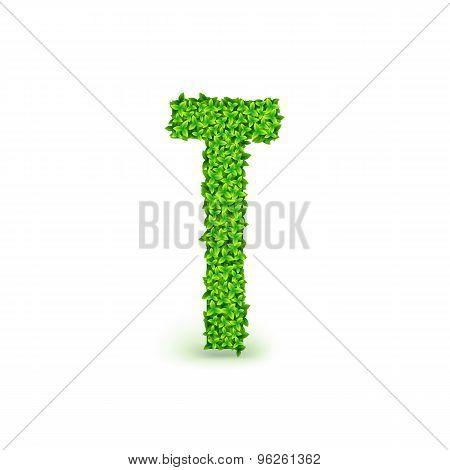 Green Leaves font T.
