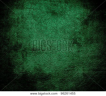 Grunge background of dartmouth green leather texture